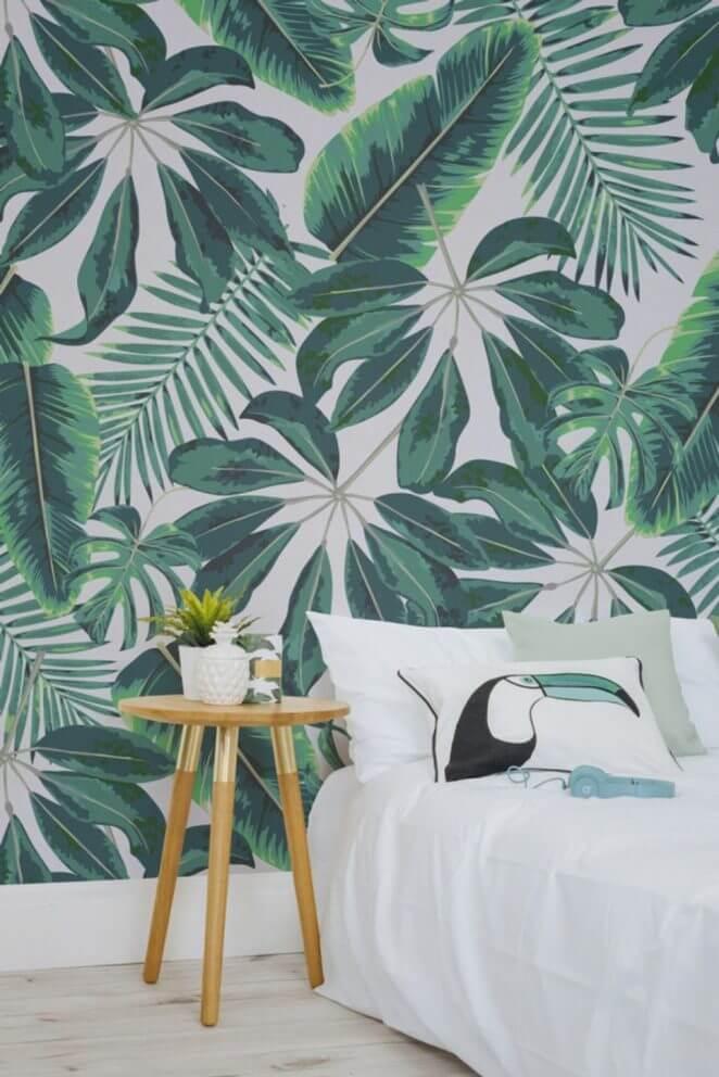 papier peint piur la chambre adulte tendance jungle tropicale - Quel papier peint pour la chambre d'adulte ?