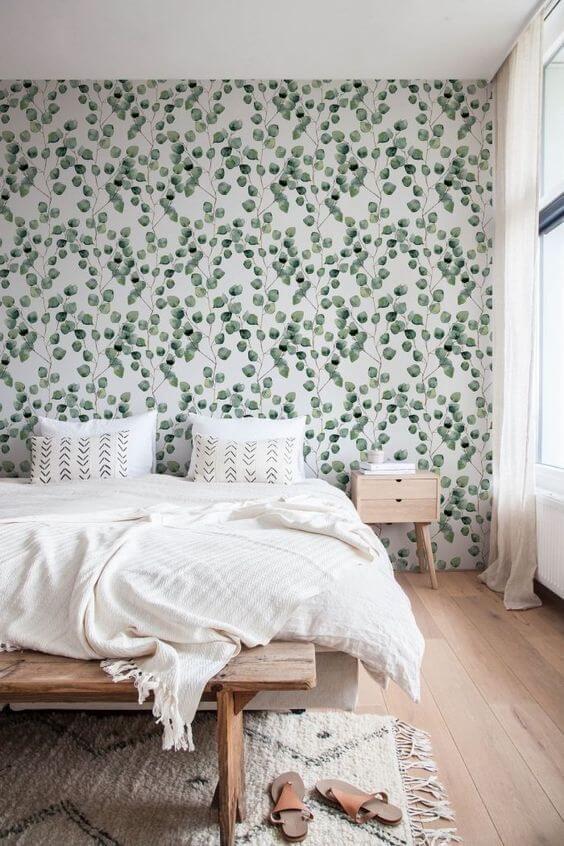 papier peint pour chambre dadulte vegetal - Quel papier peint pour la chambre d'adulte ?