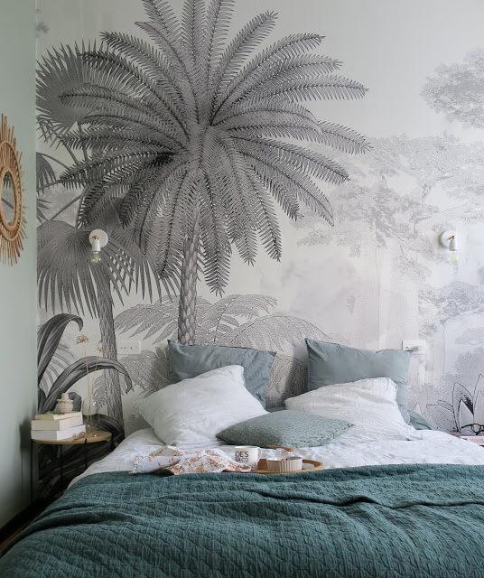 papier peint panoramique gravure - Quel papier peint pour la chambre d'adulte ?