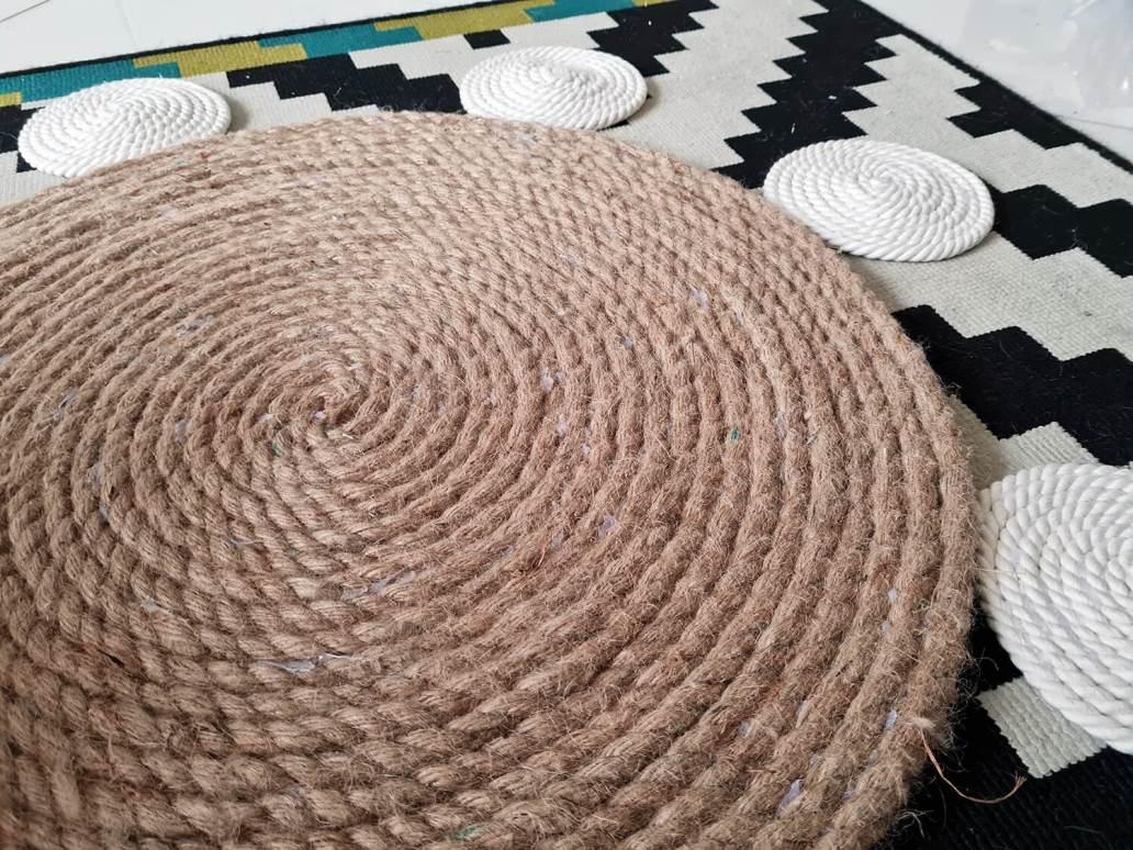 20210107 094823 - DIY bohème : fabriquer un tapis mandala avec des cordes