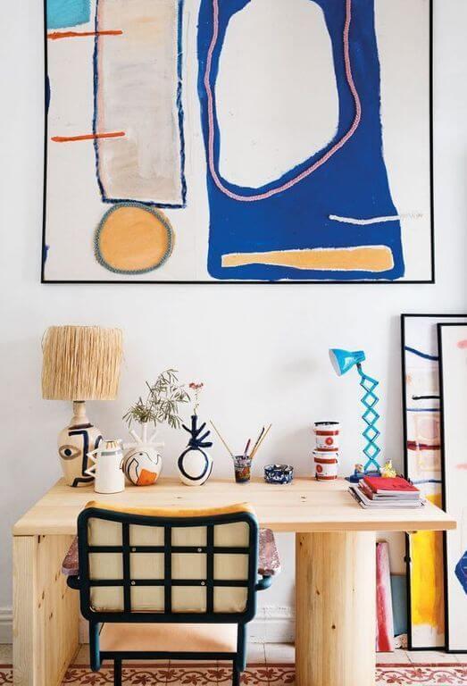 bureau deco arty - Comment aménager un coin bureau efficace à la maison?