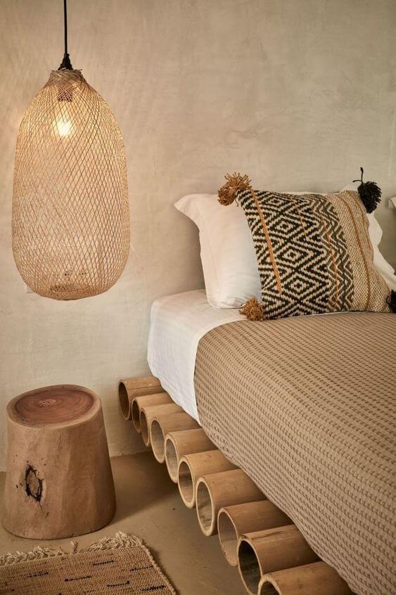 chambre deco nature ethnique 2 - Tendances meubles et décoration 2021 : le grand décryptage