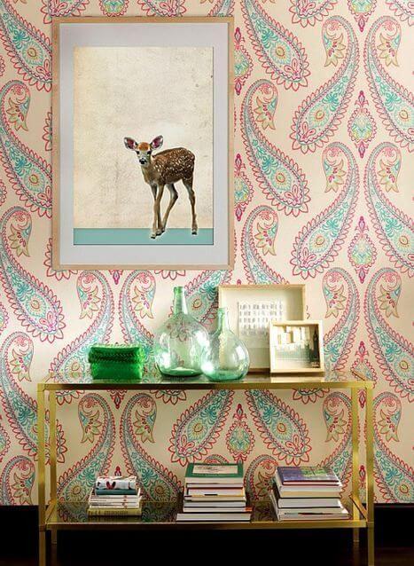 papier peint paysley 2 - Tendances meubles et décoration 2021 : le grand décryptage