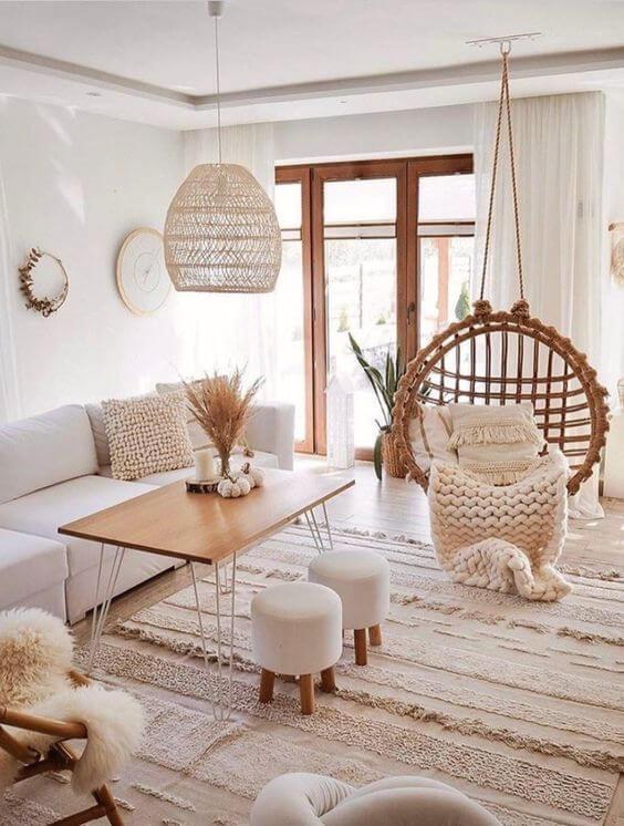 salon deco boheme 2 - Tendances meubles et décoration 2021 : le grand décryptage