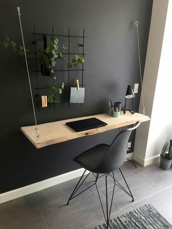 un bureau realise avec une etagere - Aménager un bureau dans un petit espace
