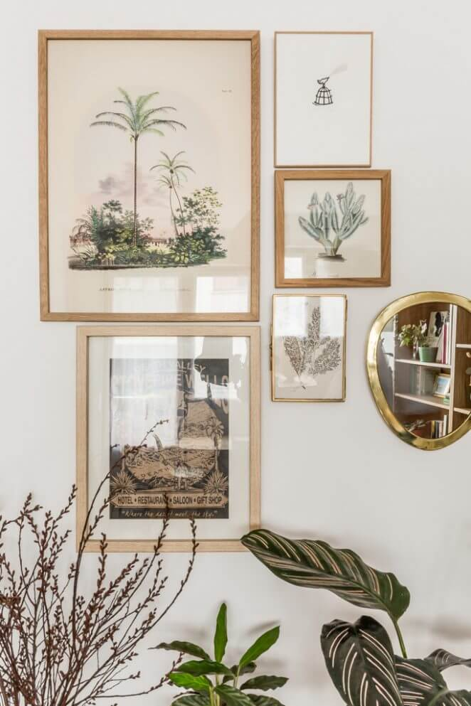 decoration murale gravures botaniques - Inspiration déco : 16 façons d'embellir les murs du salon