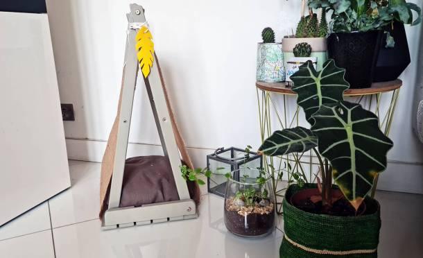 DIY récup': fabriquer un tipi pour chat très déco