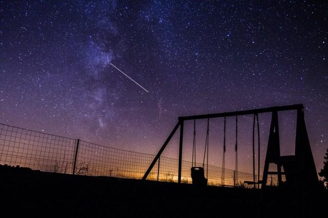 photo d'une soirée étoilée