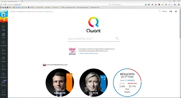 Illustration firefox et qwant