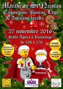 Marché de St Nicolas - Exposition Bourse LEGO® & Artisans Locaux @ Salle Agora - Russange