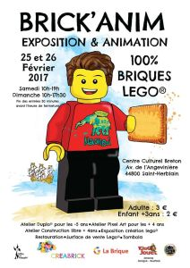 Brick'Anim 2017 - Exposition 100% LEGO® @ Centre Culturel Breton - Saint-Herblain