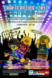Chantebrique 2017 - Exposition 100% LEGO® @ Salle Pierre de Coubertin - Chantepie
