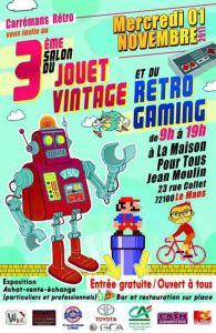 3ème salon du jouets vintage et du rétrogaming @ Maison pour tous Jean-Moulin - Le Mans