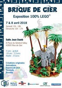 Exposition 100% LEGO® Brique de Gier @ Salle jean daste - Rive De Gier