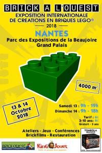 Exposition 100% LEGO® Brick à l'Ouest 2018 @ Parc des expositions - Nantes