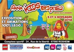 Exposition 100% LEGO® Fana'KIDS'Briques 2018 @ Complexe sportif ROSHEIM