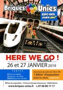 Exposition 100% LEGO® BRIQUES UNIES VALENCE 2019 @ Parc des exposition - Valence