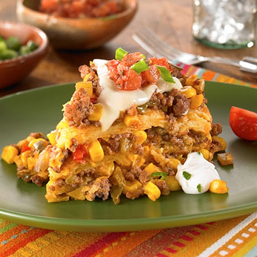 Use 4 small russet or red potatoes that are about the same size. Slow Cooker Beef Tamale Casserole recipe   Chefthisup