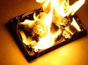 hard drive fire