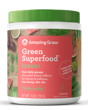 Amazing Grass GreenSuperfood Energy Watermelon flavor