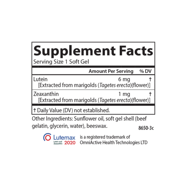 Carlson Lutein Facts
