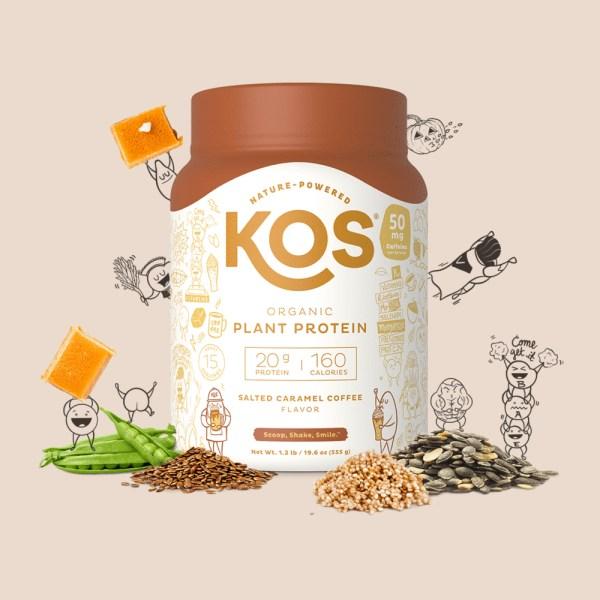 KOS Organic Plant Protein vị Salted Caramel Coffee