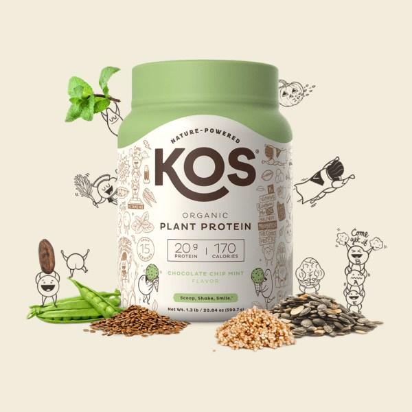 KOS Organic Plant Protein vị Chocolate Chip Mint
