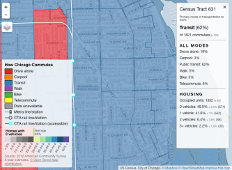 Lakeview commute map
