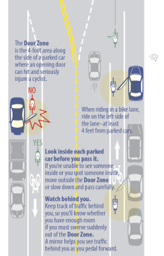 Dooring advice from the 2014 Chicago Bike Map