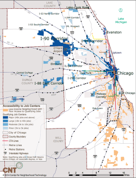 CNT says there is poor transit service between where low-income workers live and where most jobs are. They're developing research that would show the impact of building new lines outlined in the Transit Future campaign.
