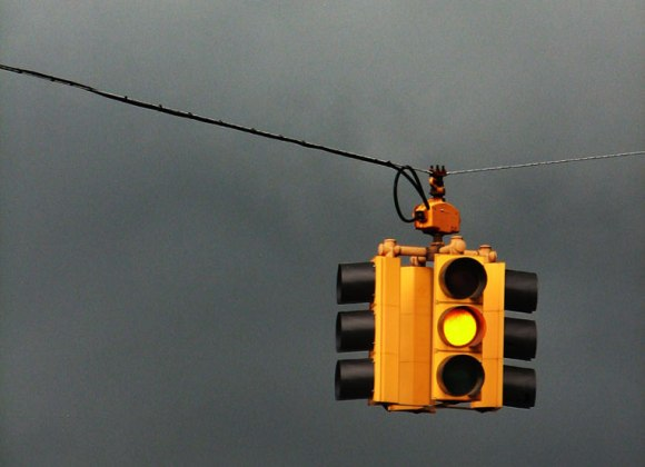 The Tribune is trying to brew a storm of controversy over the city's red light camera program by pointing out that Chicago, like every other city, times its yellow lights differently. Photo: Jamelah