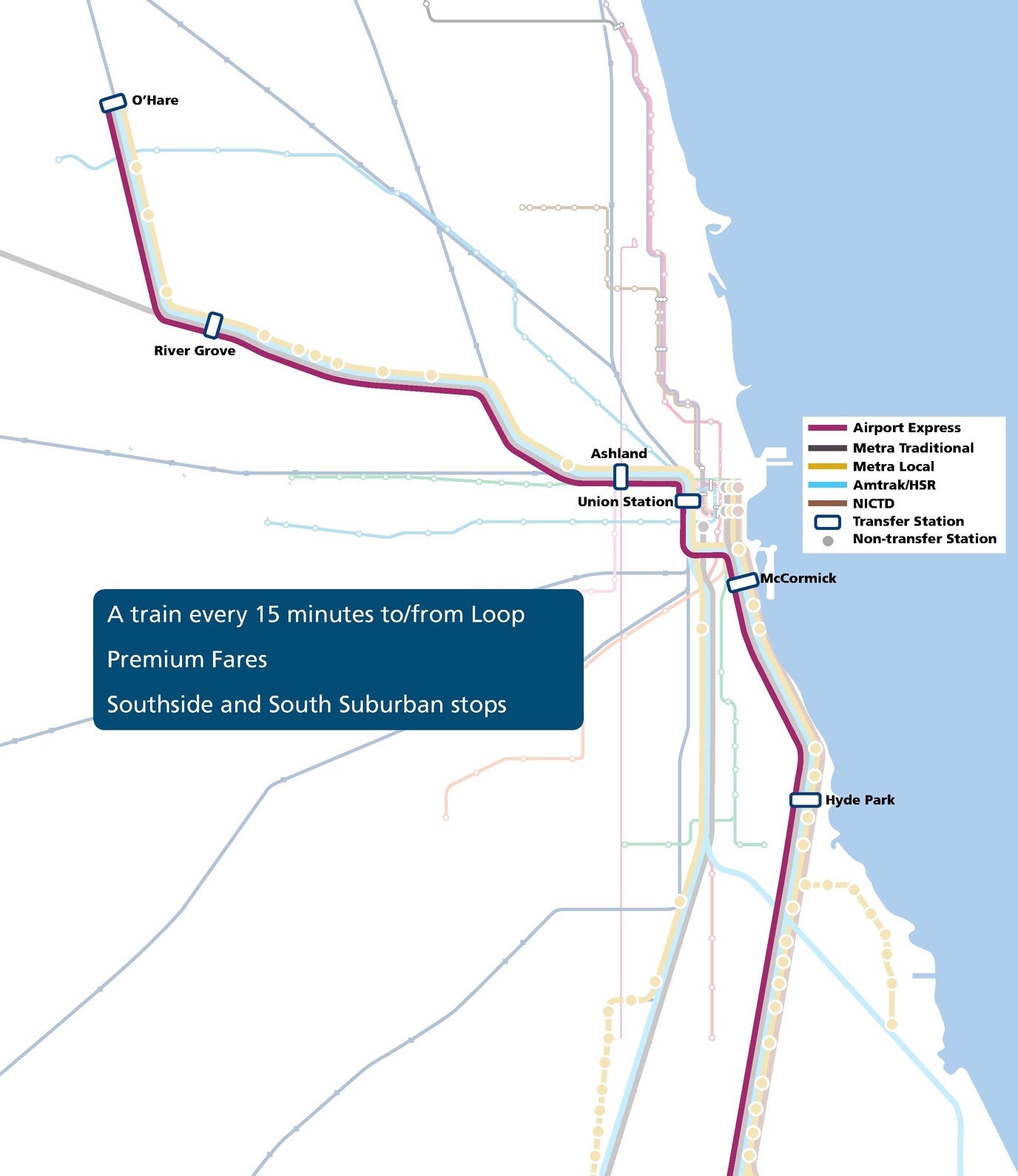 High Speed Rail Association Use Metra Tracks for OHare Express