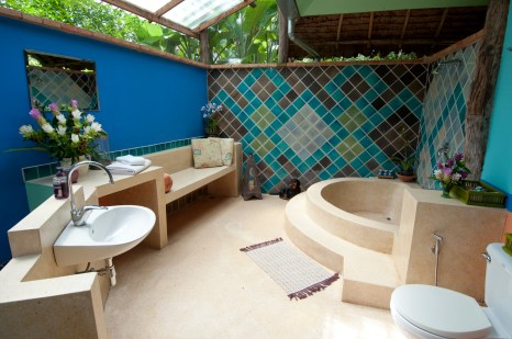 Balinese-inspired bathrooms