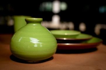 lemon-green glaze