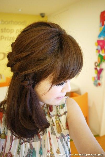 簡易法式鄉村女孩側編髮教學