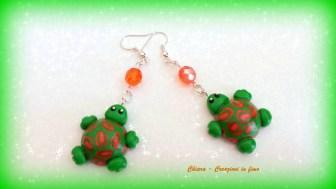 orecchini in fimo tartarughe