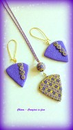 parure in fimo violet