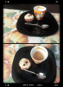 Mini cupcakes café