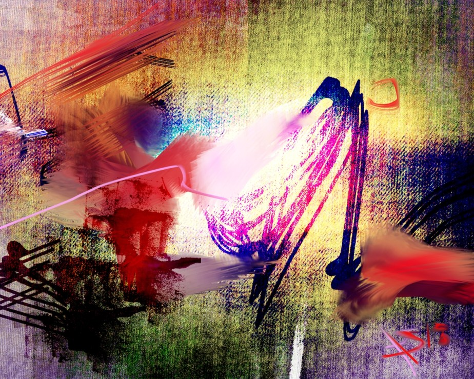 discourse, abstract digital art with text