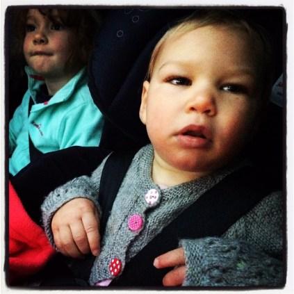 Car seat, seat-belt, happy!