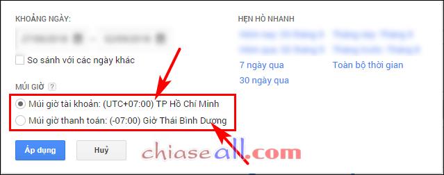 Tài khoản của mình mở tại Việt Nam nên mình có thể xem theo múi giờ Việt  Nam là UTC+07:00. Cũng có thể lựa chọn theo múi giờ thanh toán là UTC-07:00  ...