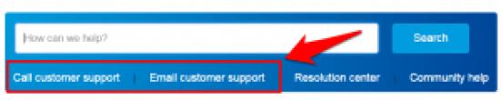 liên hệ support của PayPal
