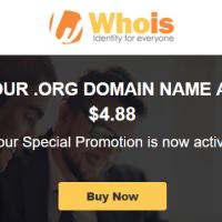 Whois.com giảm giá tên miền .ORG chỉ còn 4.88$
