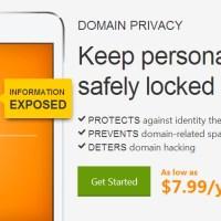 GoDaddy giảm giá 50% Domain Privacy, ẩn thông tin tên miền chỉ 3.99$