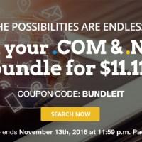 Đăng ký bộ đôi .COM và .NET, giá chỉ 11.11$ cuối tuần này