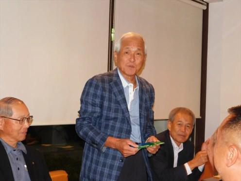 ゴルフコンペ順位発表 一位金田豊成会員