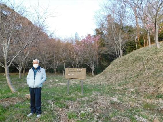 千葉緑RC「桜の山」 まだソメイヨシノは開花せず。