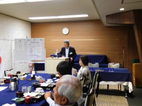 秋葉会長エレクト 次年度活動方針及び20周年記念例会について