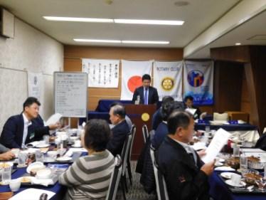 年次総会開催 司会:横井幹事 司会者より議長を指名する
