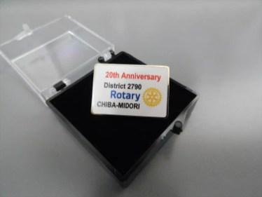 創立20周年記念バッジ出来ました。